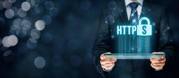 HTTPS pojęcie Obrazy Stock