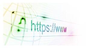 Https a protégé le page Web illustration libre de droits