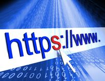 Https protected web page Stock Photography