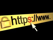 Https protected web page Royalty Free Stock Photo
