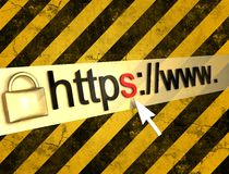 Https protected web page Royalty Free Stock Images