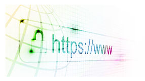 Https protected web page Royalty Free Stock Photography