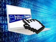 Https protegió Web page ilustración del vector