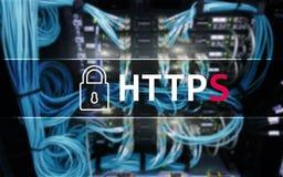 HTTPS, protocole sûr de transfert des données utilisé sur le World Wide Web photos stock