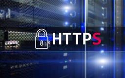 HTTPS, protocolo seguro de la transferencia de datos usado en el World Wide Web imagen de archivo libre de regalías