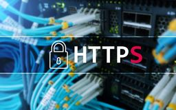 HTTPS, protocolo seguro de la transferencia de datos usado en el World Wide Web fotos de archivo
