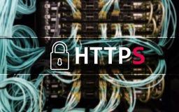 HTTPS säkert protokoll för dataöverföring som används på world wide web royaltyfria foton