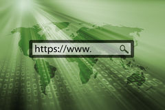 Https in the search bar Royalty Free Stock Photo