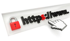 Https secure Royalty Free Stock Image