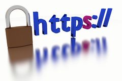 Https Secure Connection Stock Photo