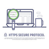 Https secure icon stock vector Royalty Free Stock Image