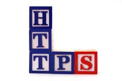 Https - segurança do Internet Fotografia de Stock
