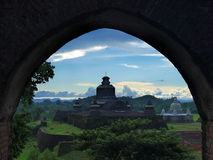 Htukkant-thein temple in Mrauk U, sub region of the Sittwe District, Rakhine State, Myanmar. Stock Image