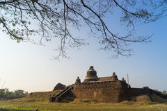Htukkanthein temple, temple on a small hill North of Mrauk U, Ra Royalty Free Stock Images