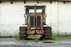 HTZ T-74 old rusty tractor Royalty Free Stock Photos