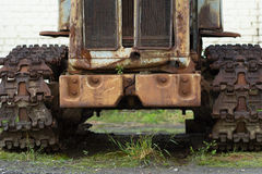 HTZ T-74 old rusty tractor Royalty Free Stock Image