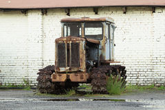 HTZ T-74 old rusty tractor Royalty Free Stock Images