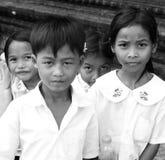 Huérfanos de Camboya Imagen de archivo