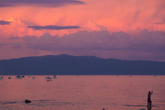 Huésped de la paleta en el lago Tahoe Fotos de archivo libres de regalías