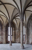 Huésped Pasillo en Mont Saint Michel Abbey Imagen de archivo libre de regalías