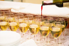 Huéspedes de abastecimiento del vino Fotos de archivo libres de regalías