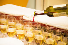 Huéspedes de abastecimiento del vino Fotografía de archivo libre de regalías