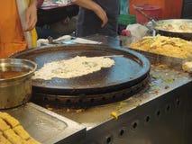Huître frite avec des oeufs Photos stock
