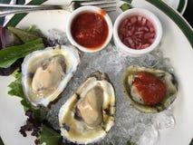 huîtres photographie stock
