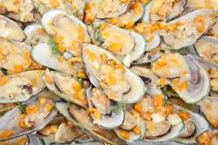 Huîtres cuites image libre de droits