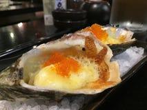 Huîtres de gril Image libre de droits