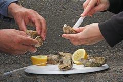 Huîtres fraîches Photo libre de droits