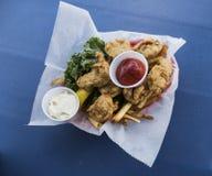 Huîtres frites Image libre de droits