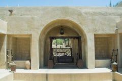 Huśtawka przy luksusowym język arabski pustyni kurortem Zdjęcie Stock