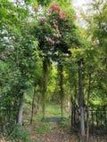 Huśtawka w lesie obrazy royalty free