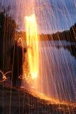 Huśtawka z ringową pożarniczą ręką obraz royalty free