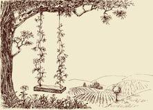 Huśtawkowy rysunek ilustracji