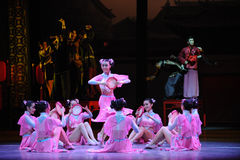 Hu Feng dance-The Pink Maid-The first act of dance drama-Shawan events of the past Stock Image