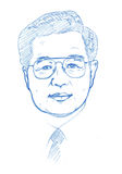 Hu Jintao portrait - Pencil Version Royalty Free Stock Images