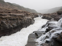 Hu Kou Waterfalls of the Yellow River Royalty Free Stock Photos
