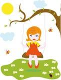 huśtawkowy dziewczyny chlanie Zdjęcie Stock