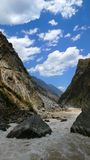 Hu tiao (tiger leaping) gorge Royalty Free Stock Images