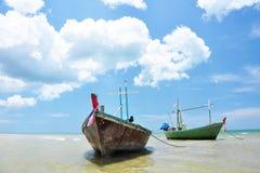 hua Ταϊλάνδη αλιείας βαρκών hin Στοκ Εικόνες