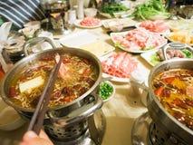 Hua gua - Chinese hot pot shabu shabu Stock Photos