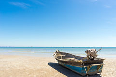 Hua hin łódź i plaża zdjęcia royalty free