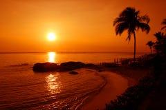 Hua Hin Beach. In Thailand stock image