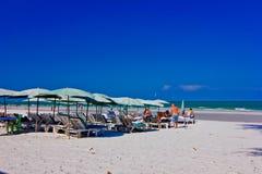 Hua hin beach. A beach is beautiful, the green sea, the sky is blue Stock Photos