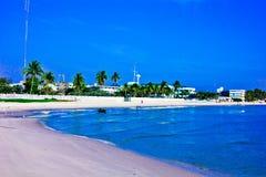 Hua hin beach. A beach is beautiful, the green sea, the sky is blue Royalty Free Stock Image
