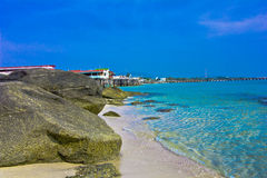Hua hin beach. A beach is beautiful, the green sea, the sky is blue Stock Photo