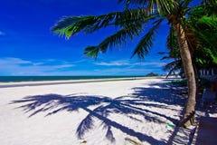 Hua hin beach. A beach is beautiful, the green tree, the green sea, the sky is blue Royalty Free Stock Photography