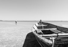 Hua hin Beach  and boat Royalty Free Stock Photos